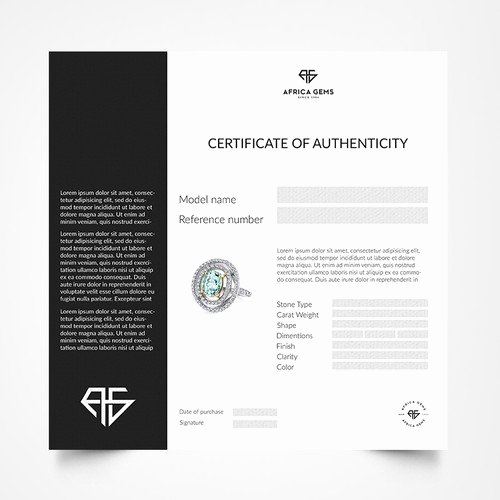 Jewelry Certificate Of Authenticity Template Awesome Certificate Of Authenticity