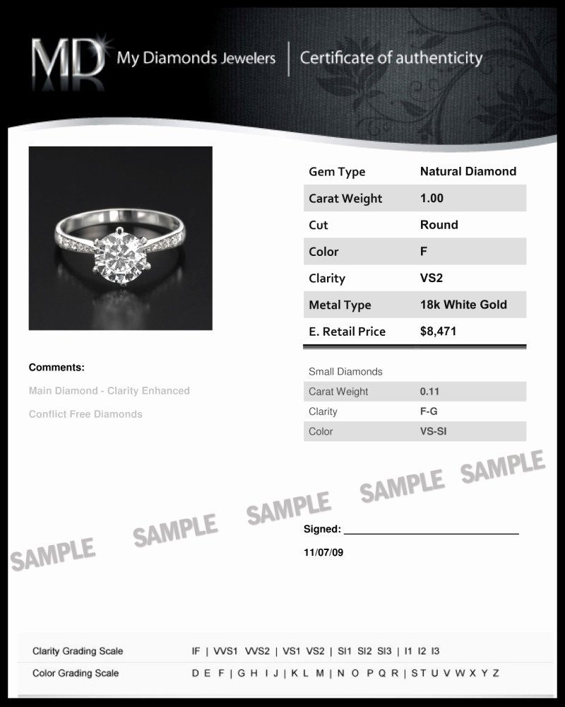 Jewelry Certificate Of Authenticity Template Best Of Guide to Diamond Certification