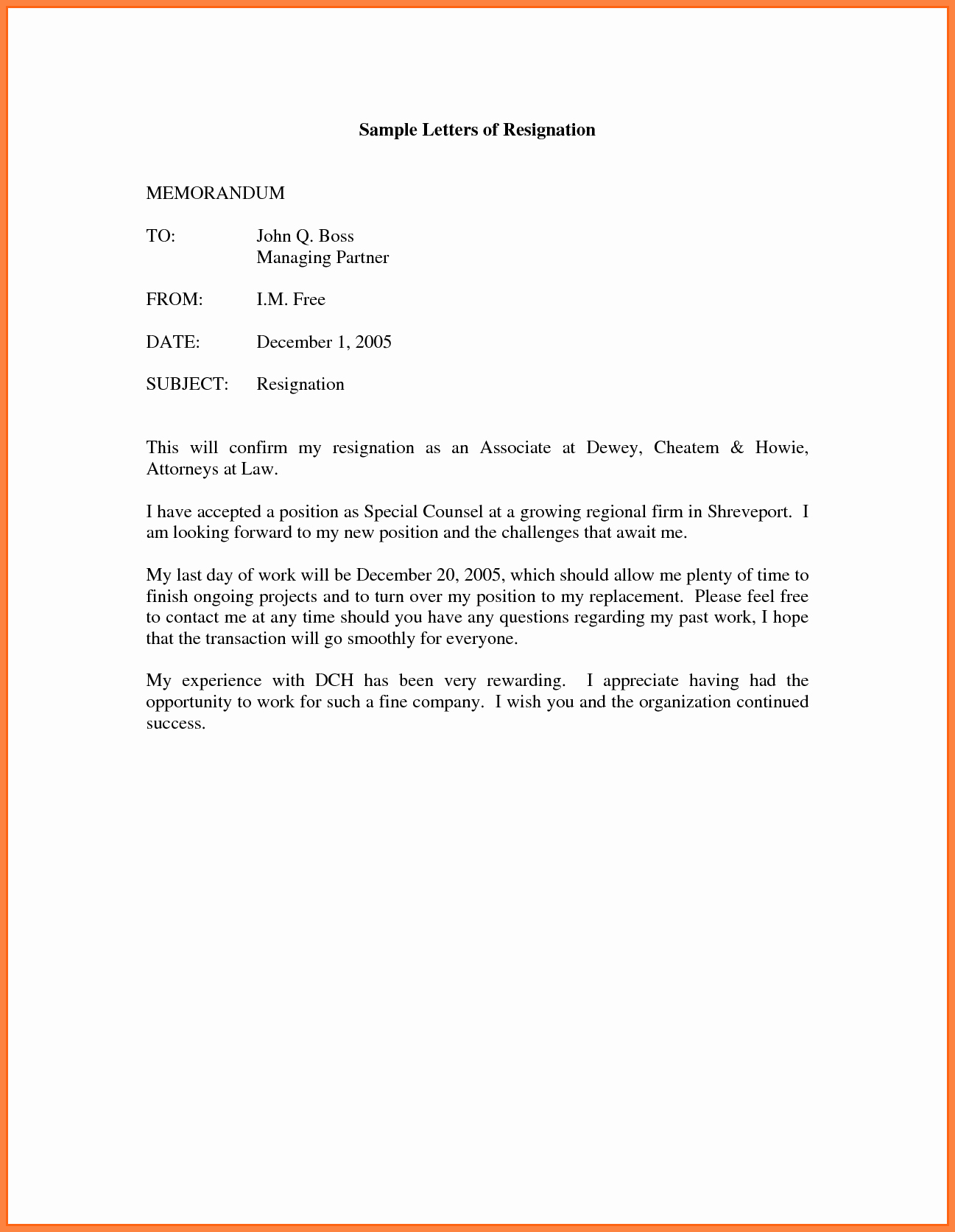 Job Notice Sample Elegant 6 Resignation Letter Sample One Month Notice Period