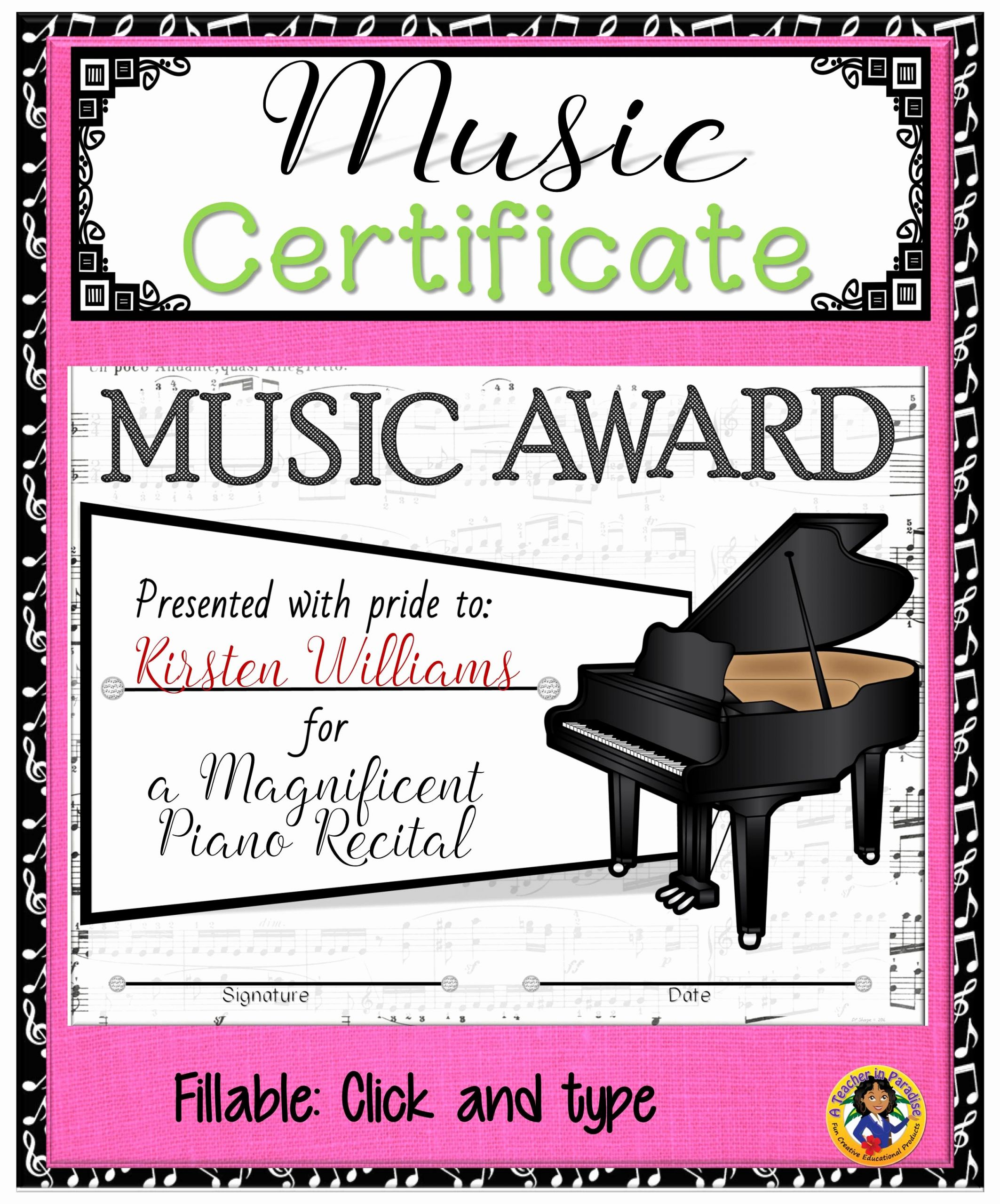 Job Well Done Certificate Best Of Certificate – Music Certificate 2