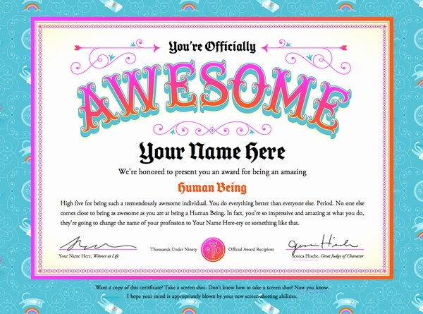 Jones Awards Certificate Templates Awesome A Friday High Five