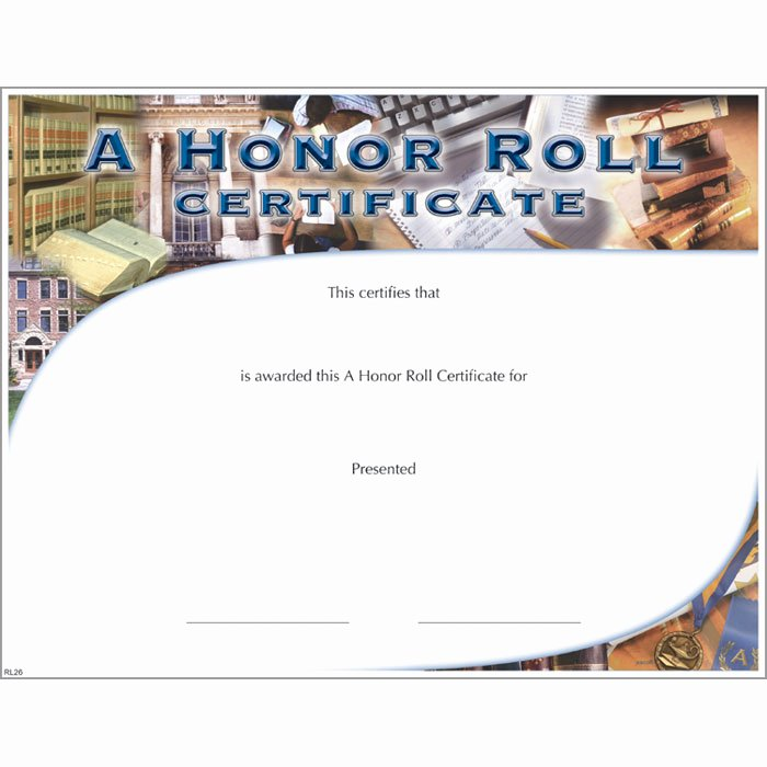 Jones Awards Certificate Templates Awesome A Honor Roll Certificate Jones School Supply