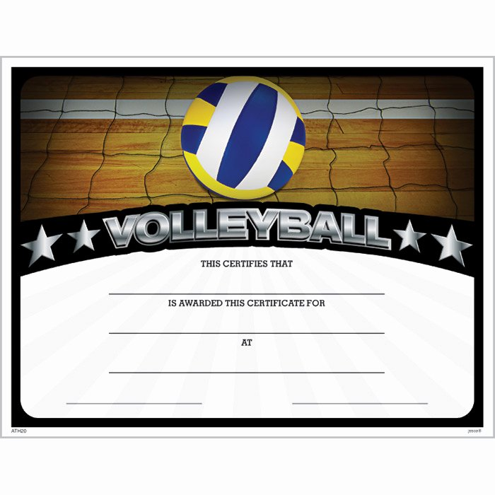 Jones Awards Certificate Templates Lovely Volleyball athletic Certificate Jones School Supply