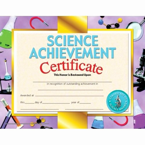 Junior Achievement Certificate Of Achievement Template Awesome Printer Patible Certificates & Awards Science