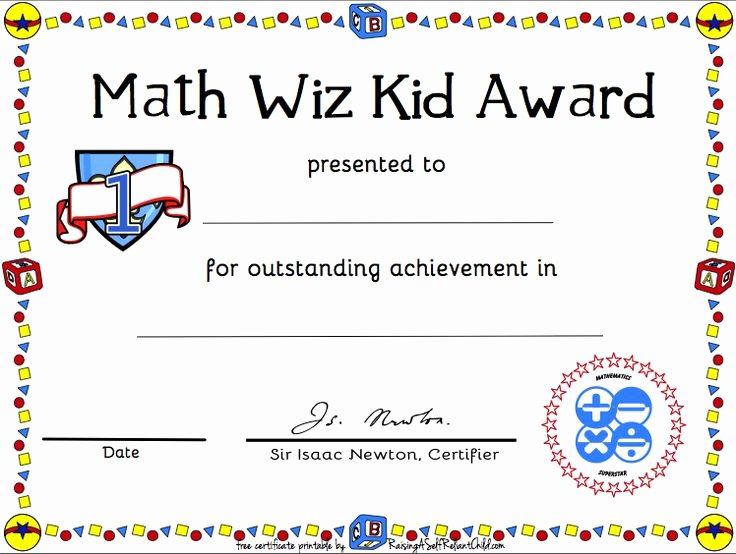 Junior Achievement Certificate Of Achievement Template Beautiful Free Printable Math Certificate Of Achievement