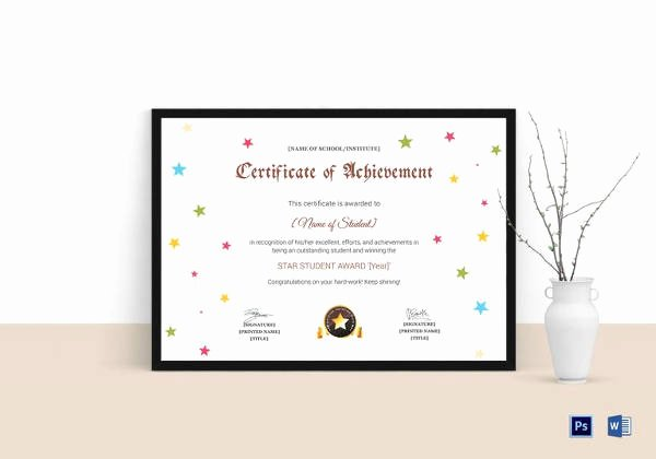 Junior Achievement Certificate Of Achievement Template Elegant 36 Fabulous Achievement Certificate Templates Word Psd
