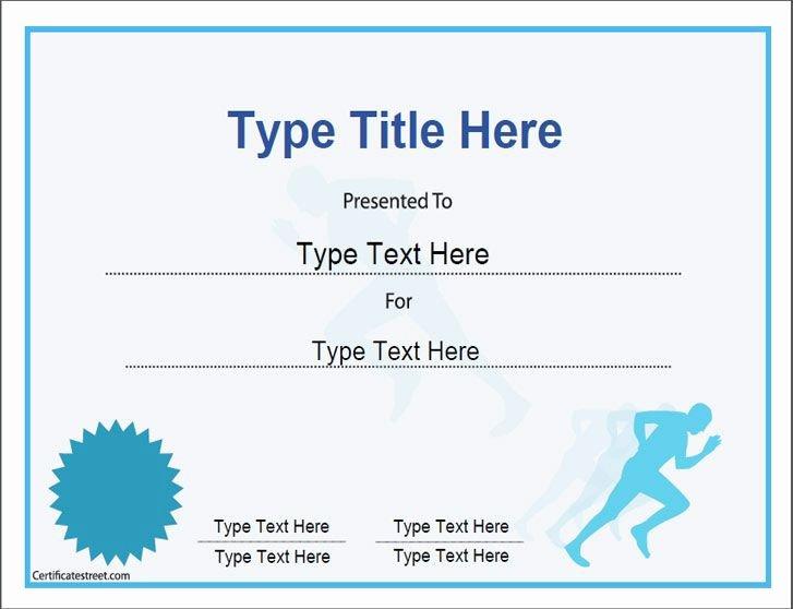 Junior Achievement Certificate Template Awesome Sports Certificate Achievement In Running