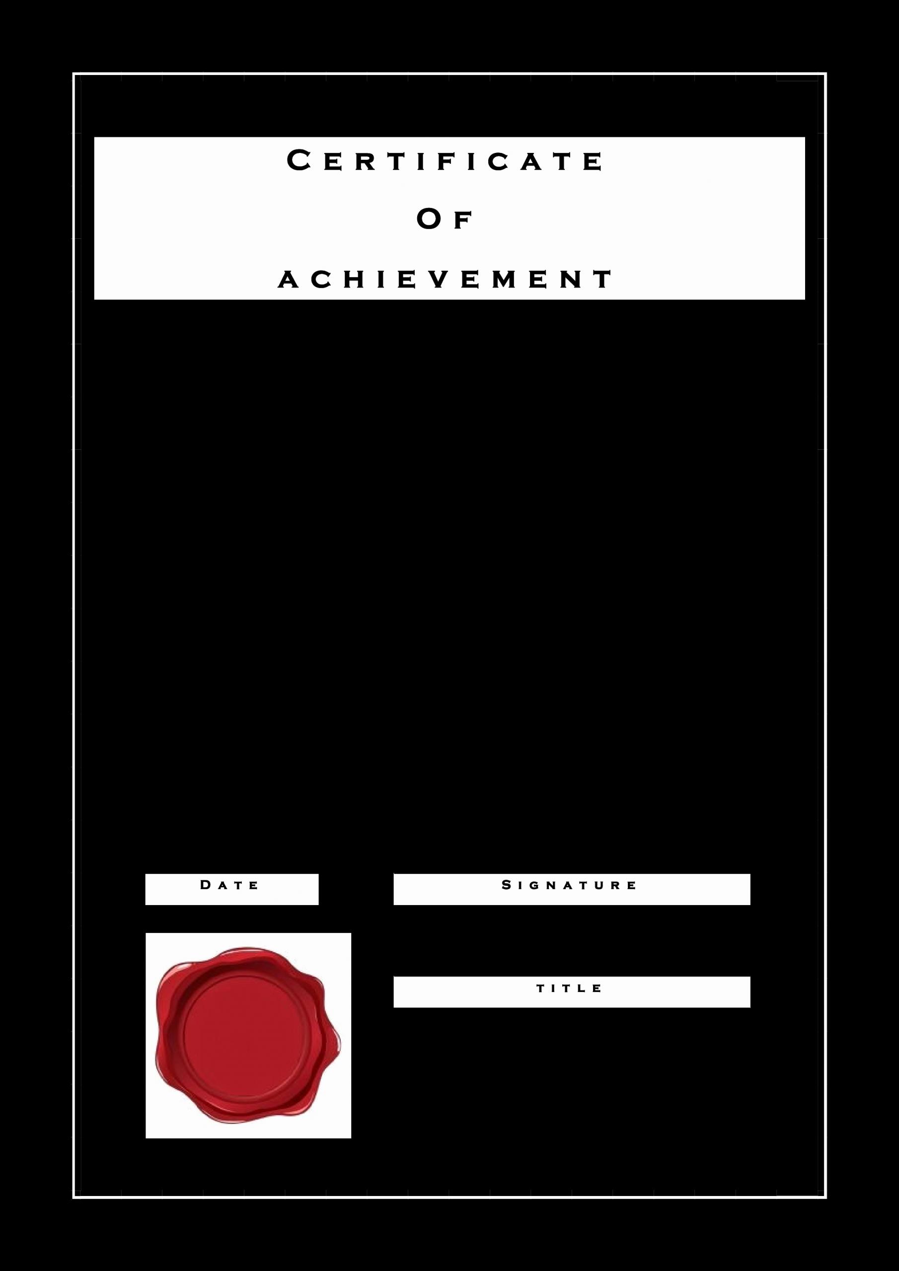 Junior Achievement Certificate Template Best Of 免费 Certificate Achievement formal Style