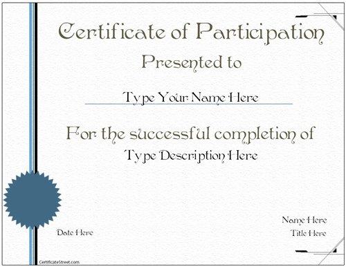 Junior Achievement Certificate Template Elegant Business Certificates Certificate Of Participations