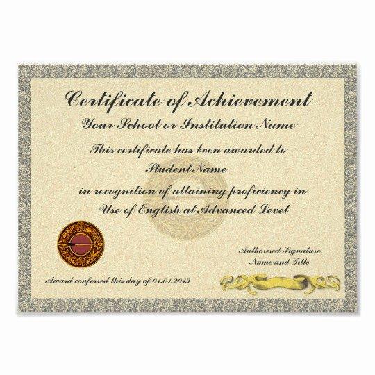Junior Achievement Certificate Template Elegant Certificate Of Achievement School College Award Poster
