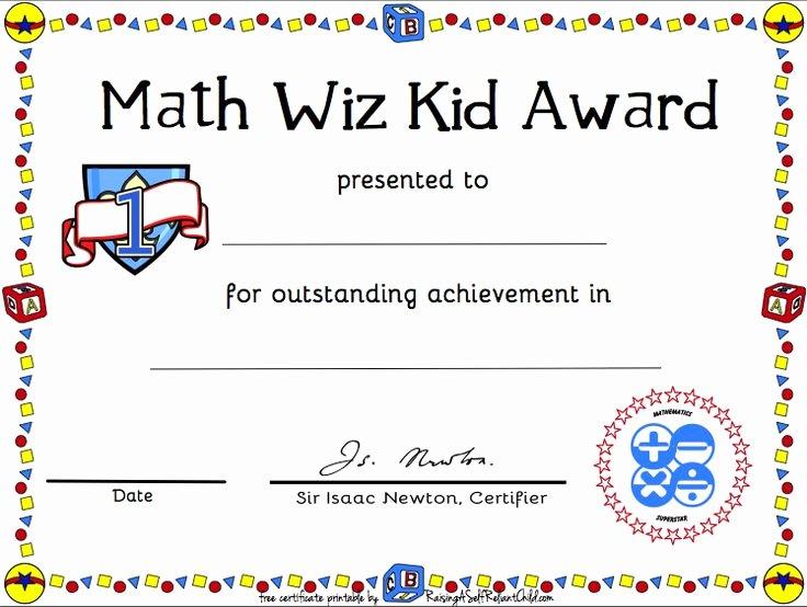 Junior Achievement Certificate Template Elegant Free Printable Math Certificate Of Achievement