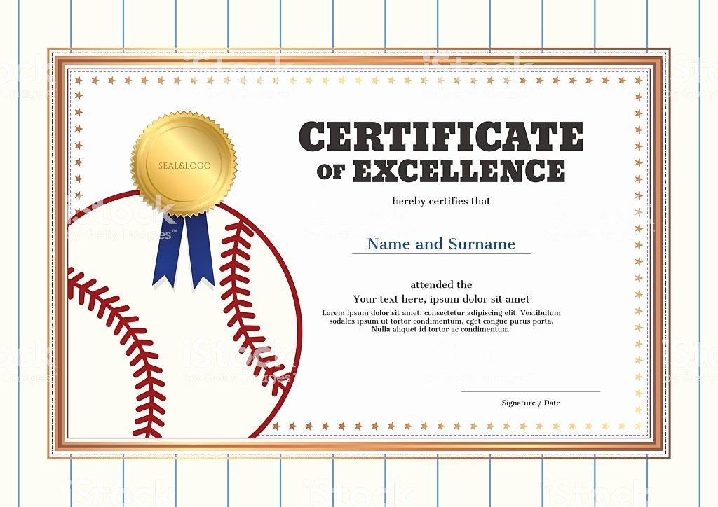 Junior Achievement Certificate Template Inspirational Certificate Excellence Template In Sport theme for