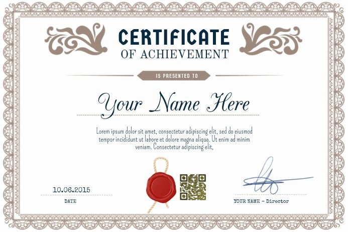Junior Achievement Certificate Template Lovely Certificate Of Achievement Postermywall Landscape