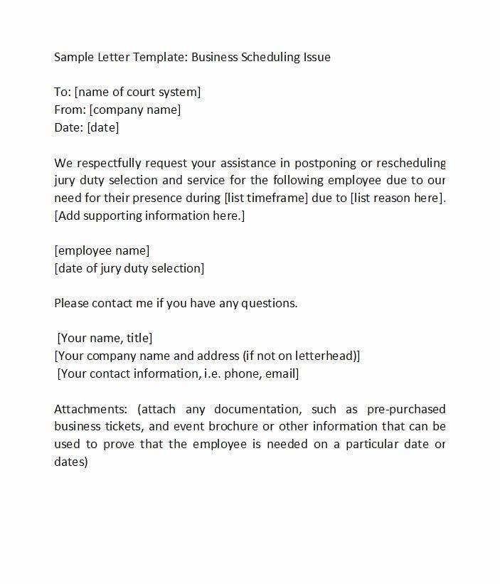 Jury Duty Excuse Letter Employer Elegant 33 Best Jury Duty Excuse Letters [ Tips] Template Lab