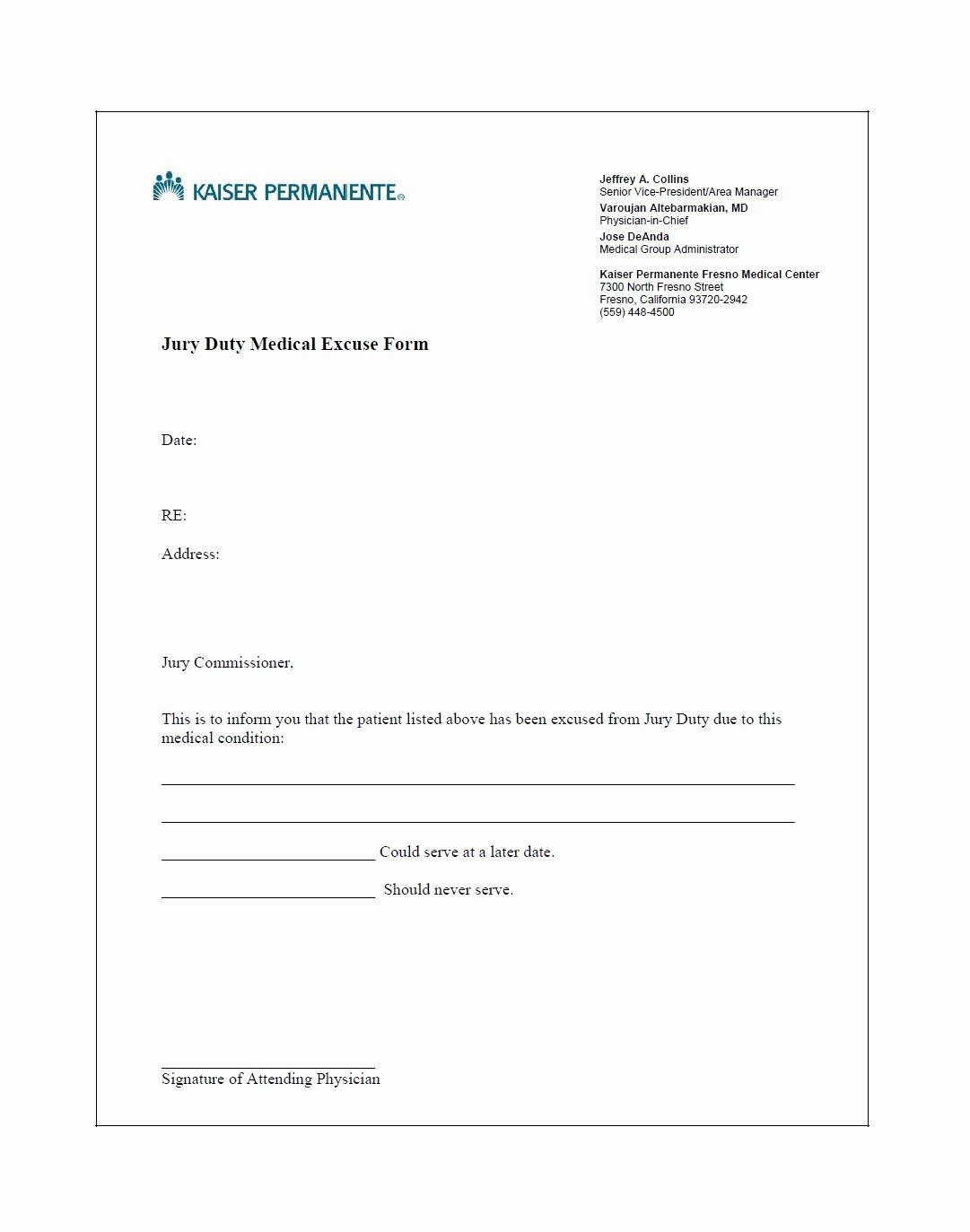 Jury Duty Excuse Letter Employer Lovely 33 Best Jury Duty Excuse Letters [ Tips] Template Lab