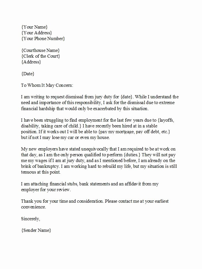 Jury Duty Excuse Letter Employer New 33 Best Jury Duty Excuse Letters [ Tips] Template Lab