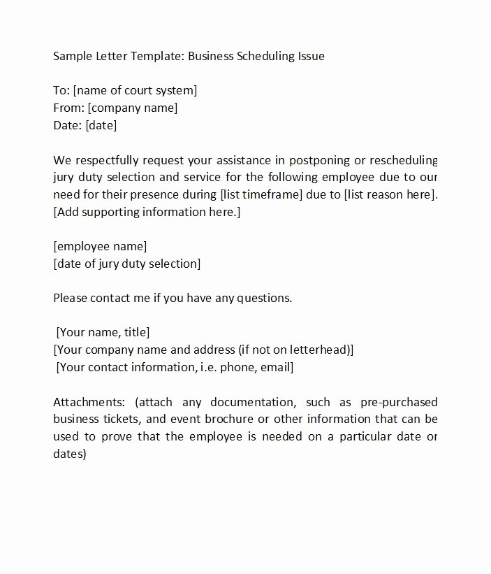 Jury Duty Excuse Letter Template Beautiful 33 Best Jury Duty Excuse Letters [ Tips] Template Lab