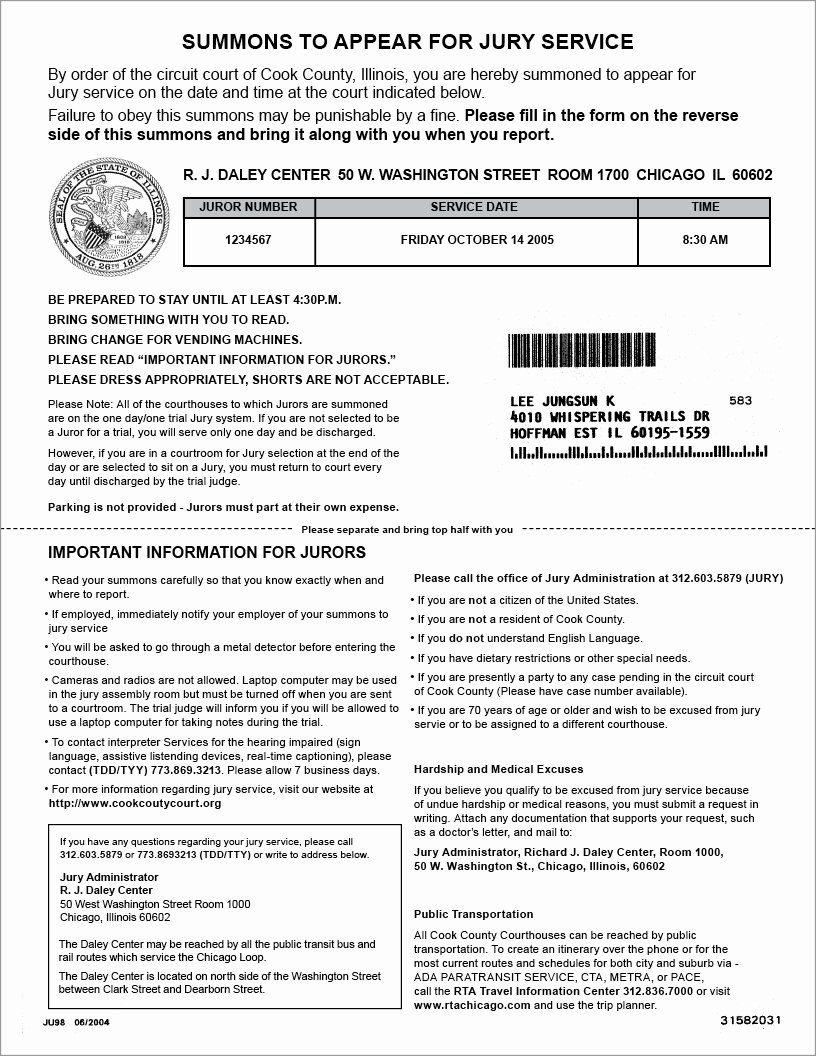 Jury Duty Letter for Employer Beautiful Claim form Jury Service Claim form