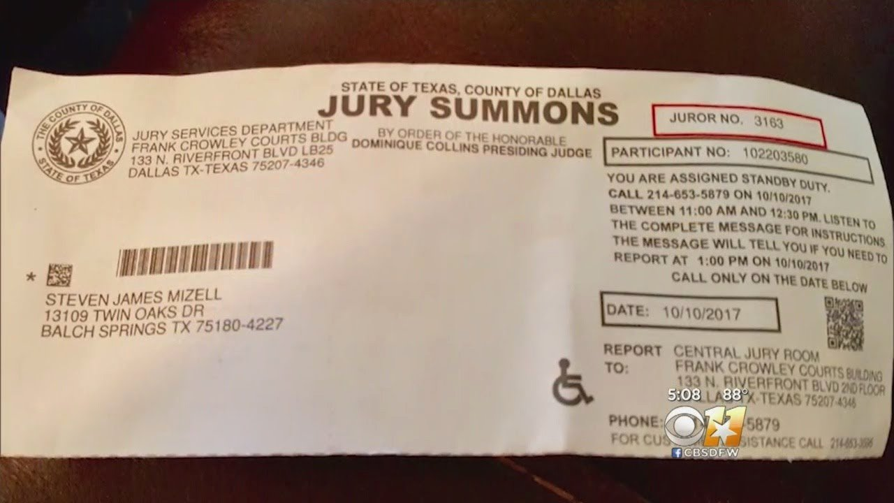 Jury Duty Letter for Work New Dallas Jury Duty Letters Arrive A Day before Court