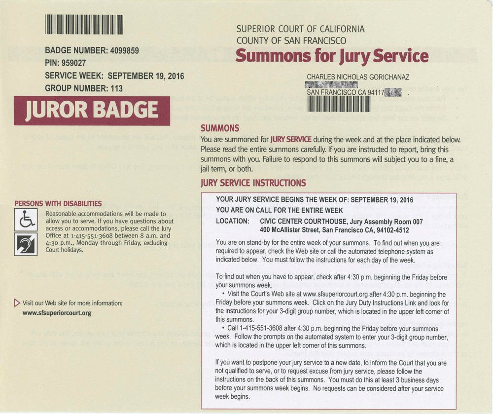 Jury Duty Letter for Work New First Call to Jury Duty Ends Quickly Blog