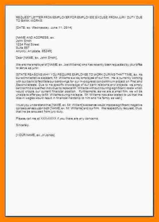 Jury Duty Letter From Employer Luxury 12 Excuse From Jury Duty Sample Letter
