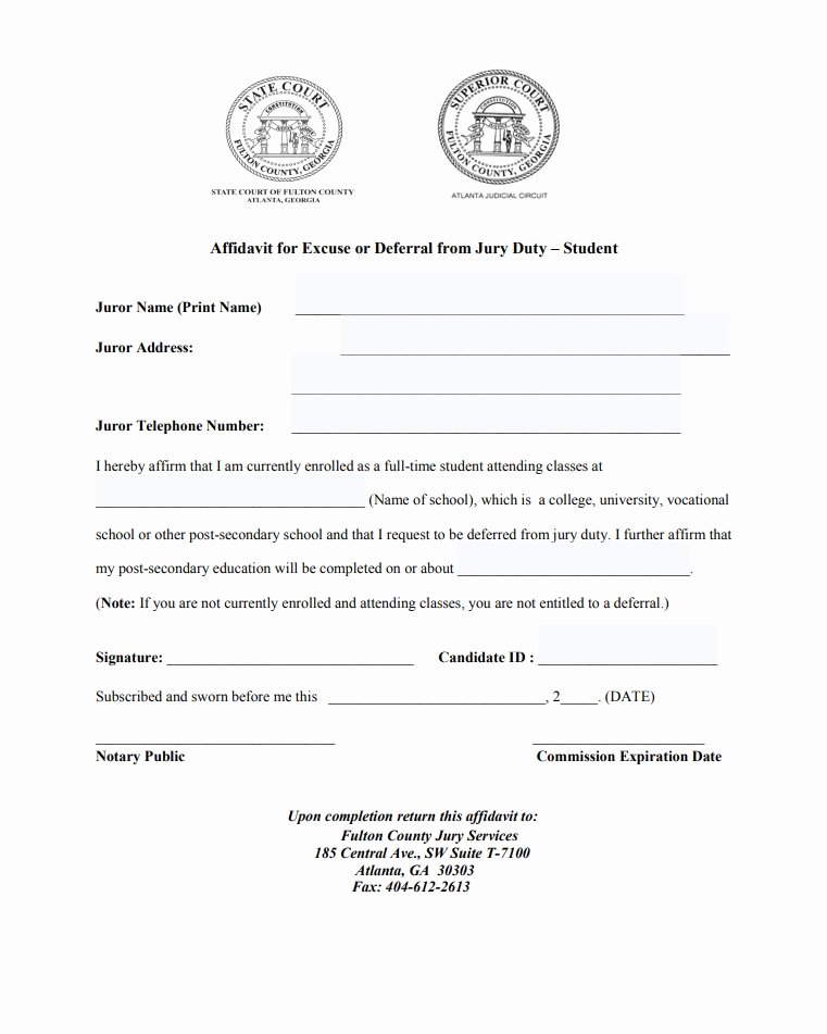 Jury Duty Letter Of Excuse From Employer Sample Inspirational 33 Best Jury Duty Excuse Letters [ Tips] Template Lab