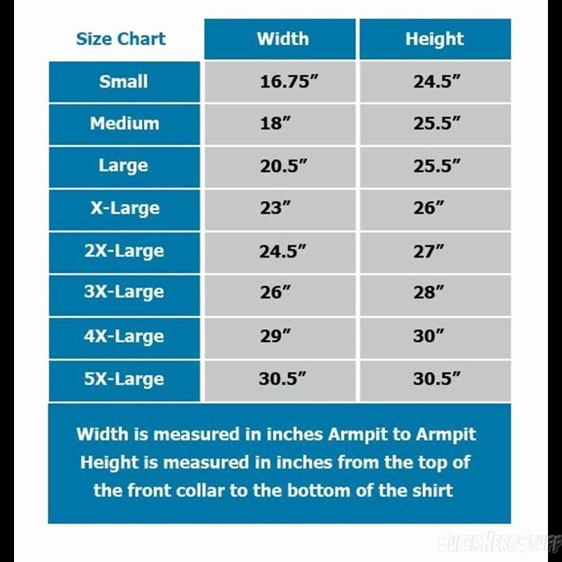 Justice Size Chart New Batman Vs Superman Choke T Shirt