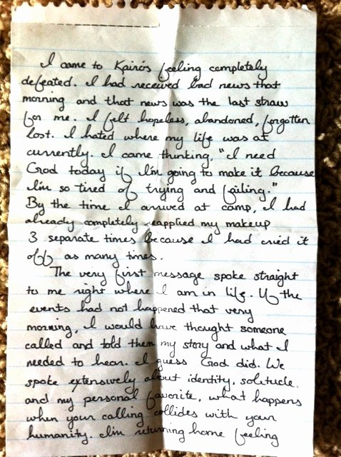 Kairos Letter Sample Beautiful Kairos Retreat Letters Shawn Michael Shoup