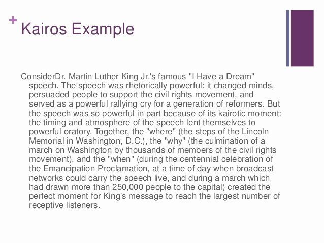 Kairos Letters Examples New Rhetorical Situation