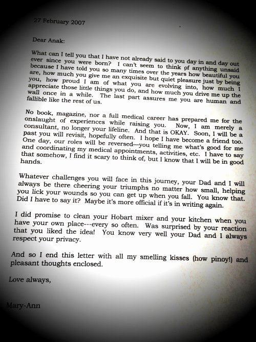 Kairos Letters From Parents Elegant Letter to My Daughter In 2007