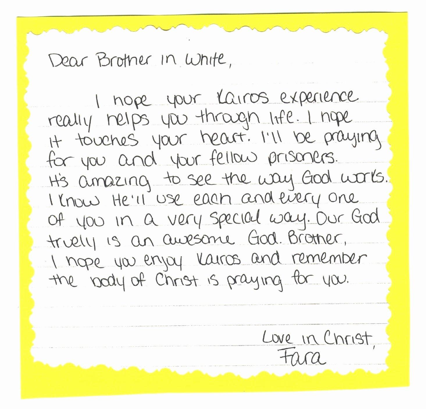 Kairos Letters Sample Unique Valid Palanca Letter Retreat