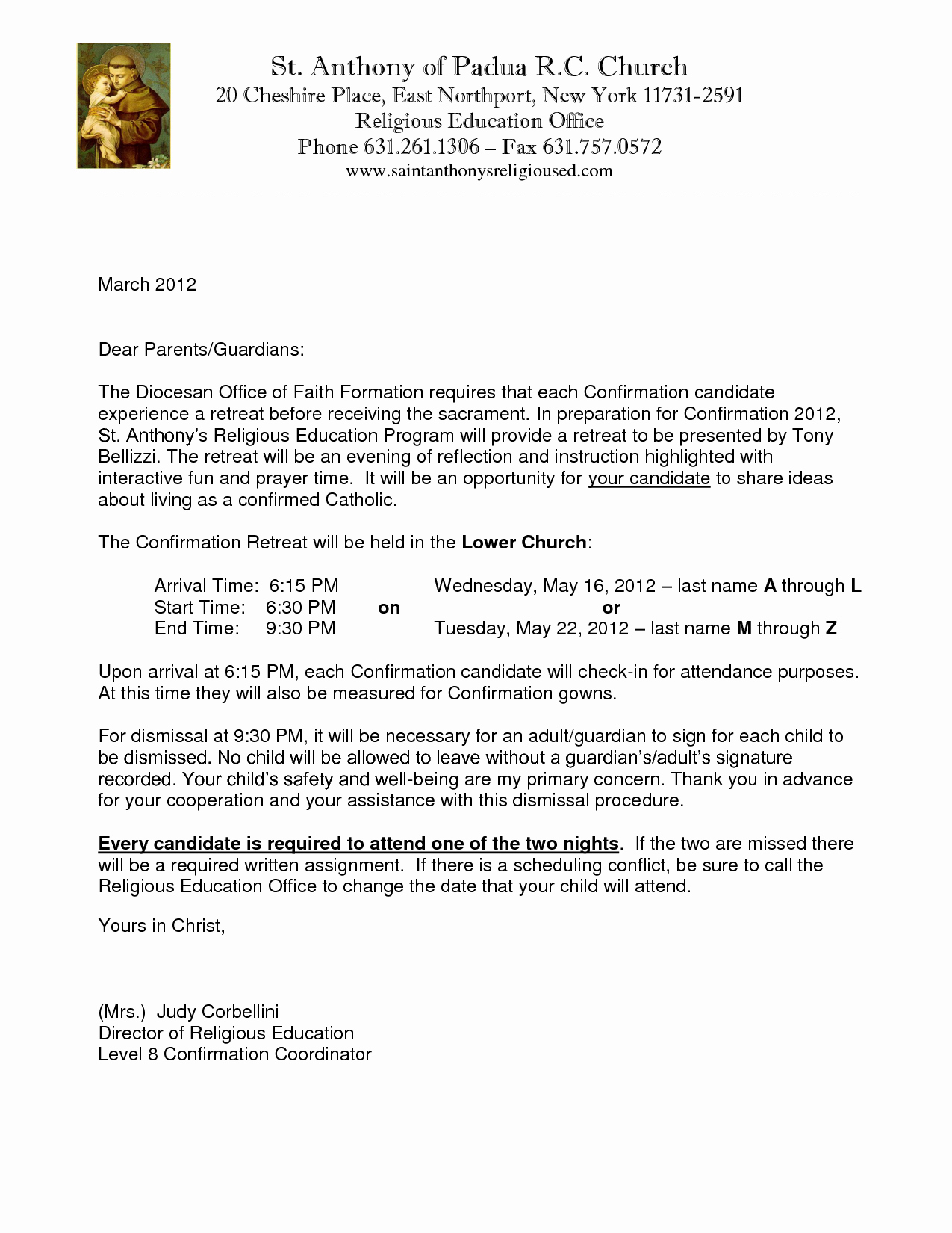 Kairos Retreat Letter Examples Awesome Catholic Confirmation Retreat Letter Sample