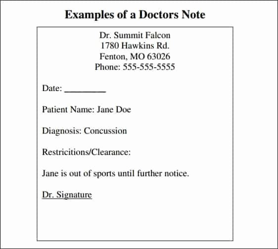 Kaiser Permanente Doctors Sick Note Inspirational 9 Doctor Note Templates Word Excel Pdf formats