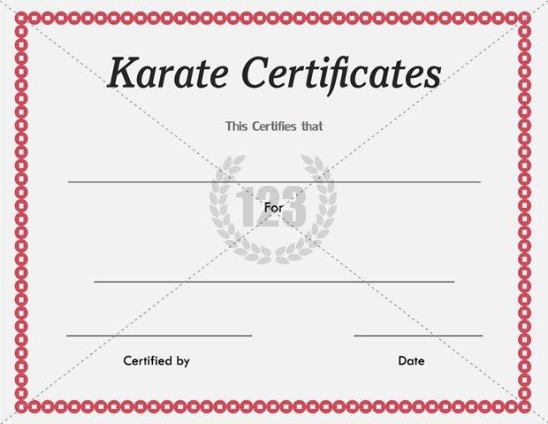 Karate Certificate Templates Free Download Awesome Karate Certificate Templates Free and Premium