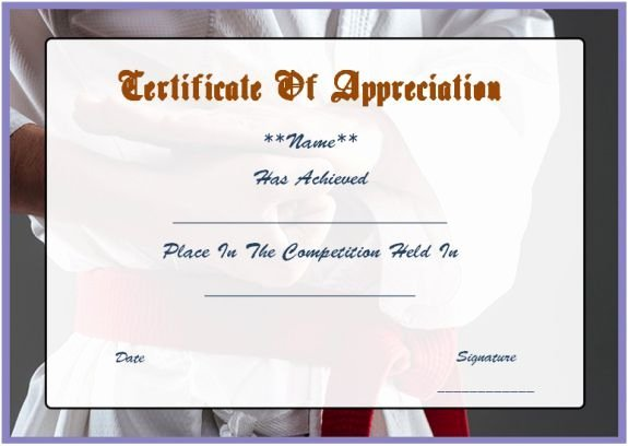 Karate Certificate Templates Free Download Beautiful 16 Best Martial Art Certificate Images On Pinterest