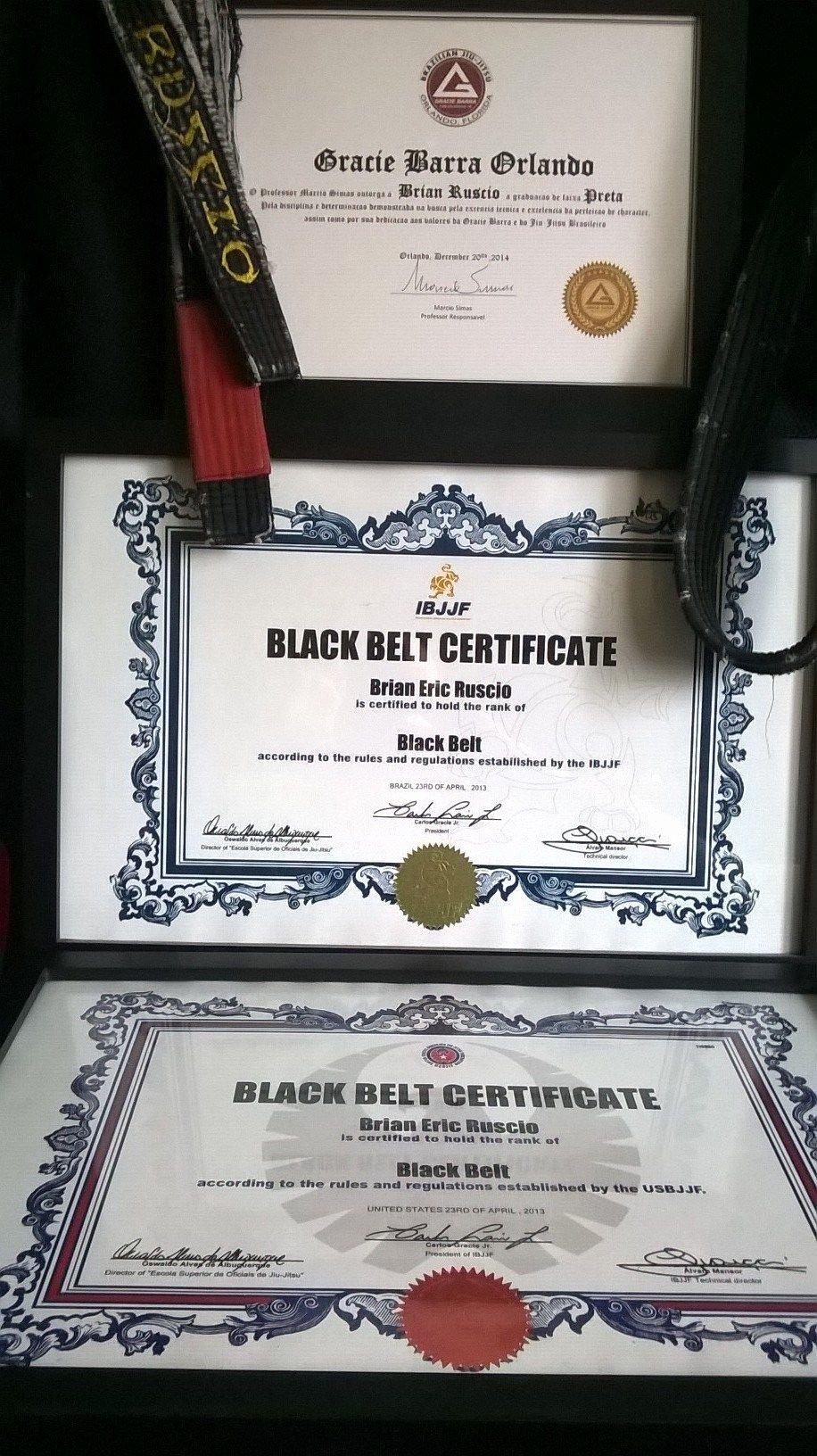 Karate Certificate Templates Free Download Unique Gracie Barra Black Belt Certificate