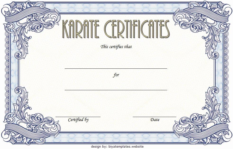 Karate Certificate Templates Free Download Unique Karate Certificate Template 10 Great Fighter Awards