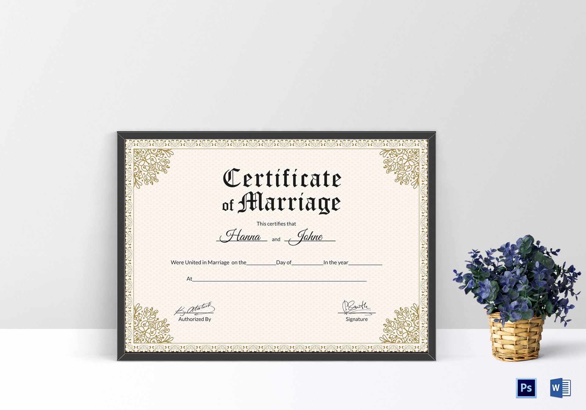 Keepsake Marriage Certificate Template Best Of Keepsake Marriage Certificate Design Template In Psd Word