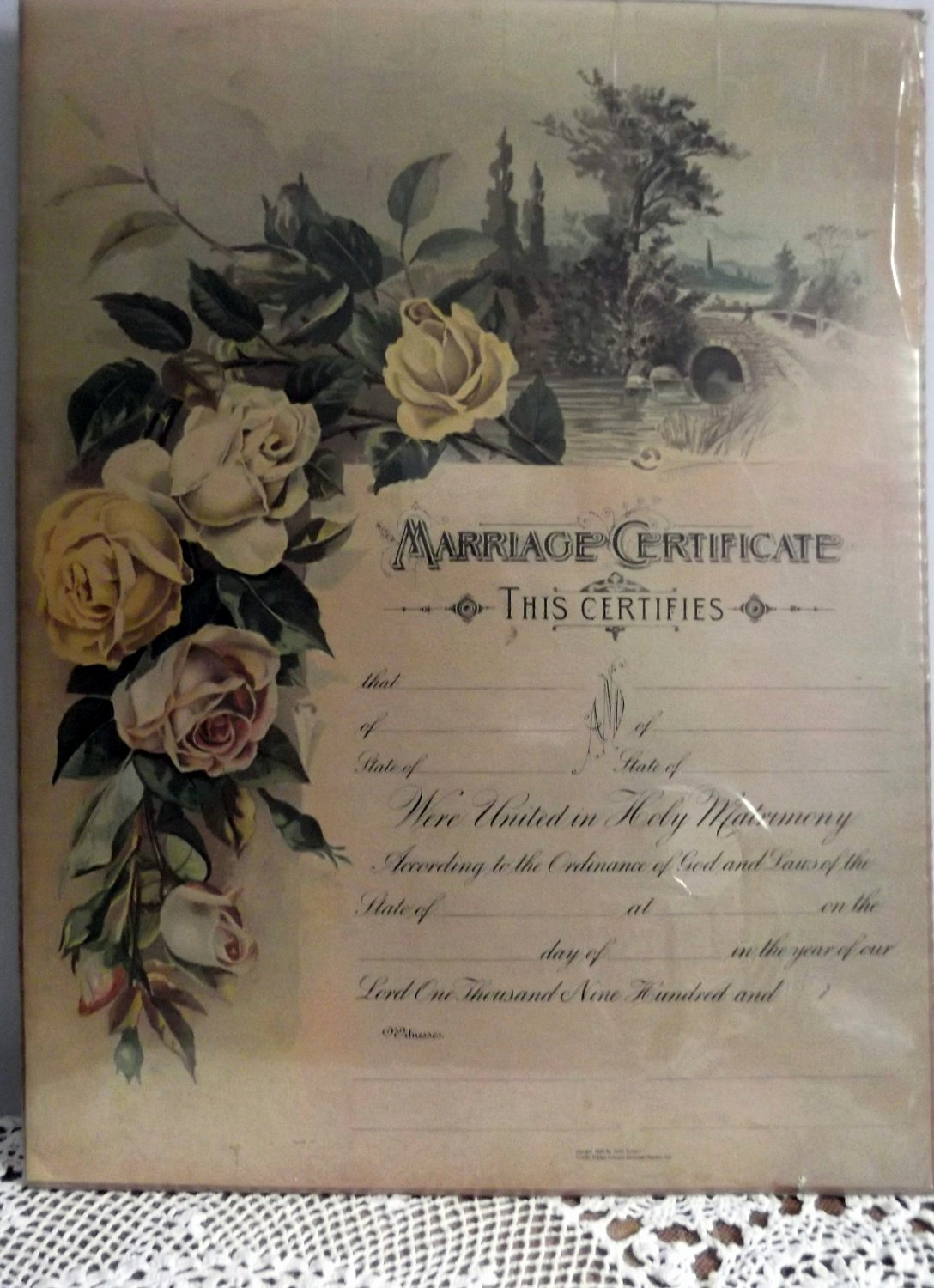 Keepsake Marriage Certificate Template Elegant Vintage Marriage Certificate Poster Replicated From 1889