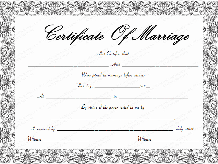 Keepsake Marriage Certificate Template Fresh Fountain Swirls Marriage Certificate Template