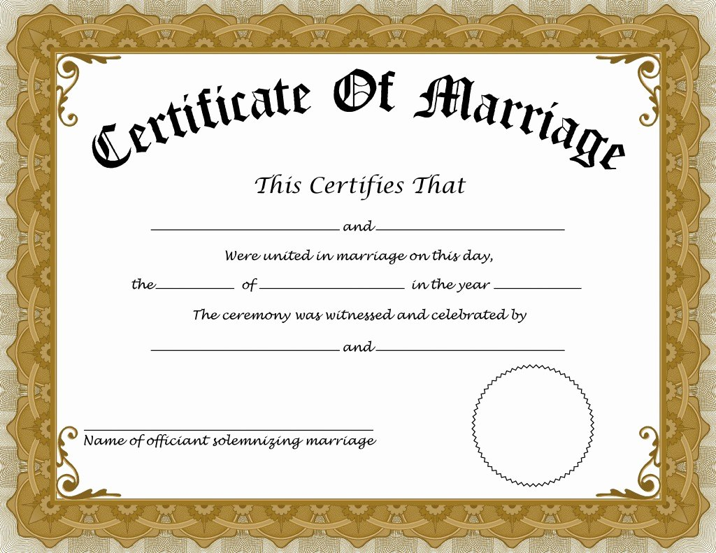 Keepsake Marriage Certificate Template Lovely Language Blog Translation Times