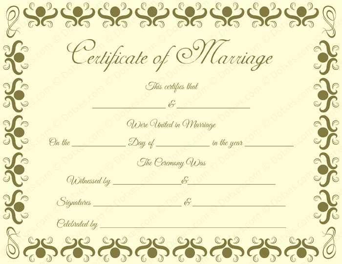 Keepsake Marriage Certificate Template Lovely Round Grill Border Marriage Certificate Template Dotxes