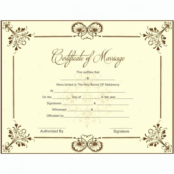 Keepsake Marriage Certificate Template Luxury Blank Marriage Certificate Template for Microsoft Word