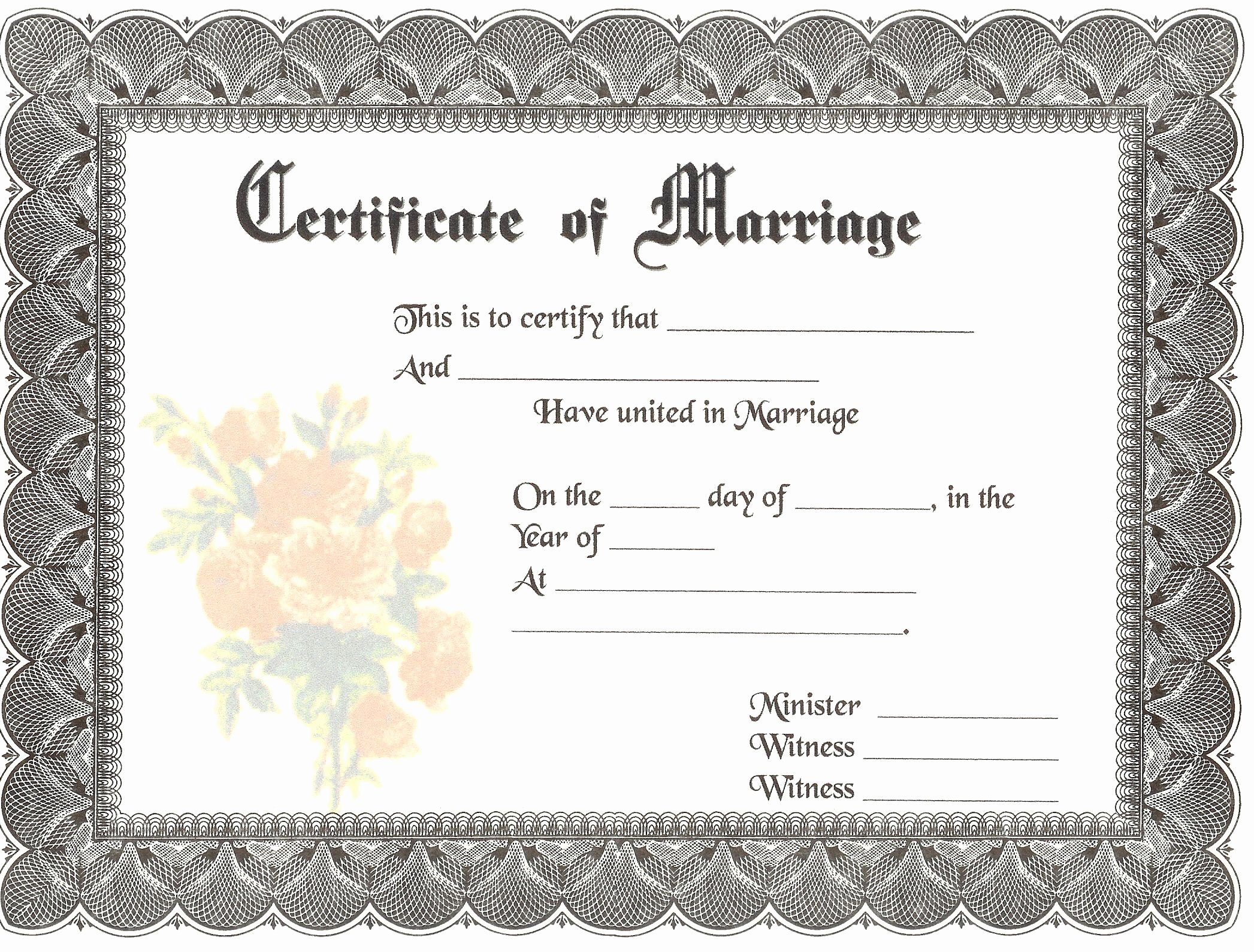 Keepsake Marriage Certificate Template Luxury Blank Marriage Certificates