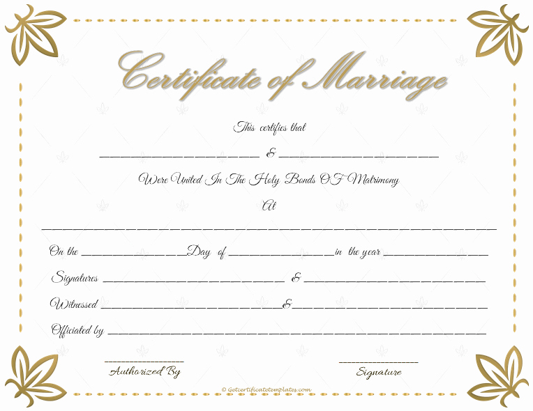 Keepsake Marriage Certificate Template New Marriage Certificate Template Write Your Own Certificate