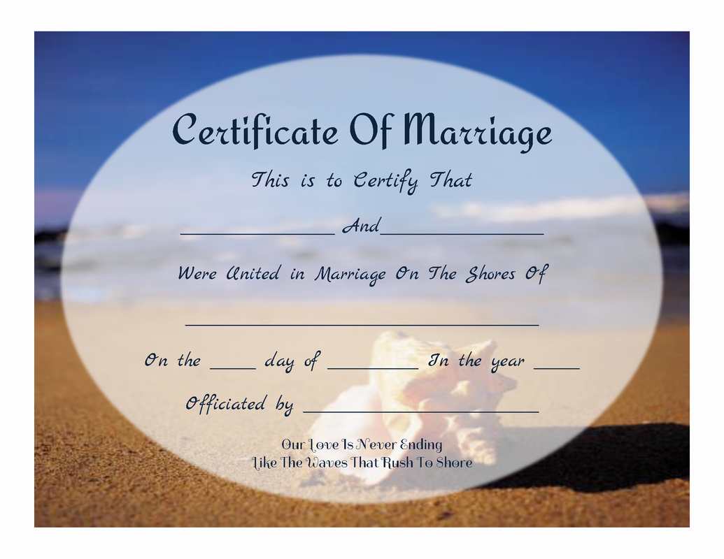 Keepsake Marriage Certificate Template Unique Free Printable Beachy Keepsake Marriage Certificate