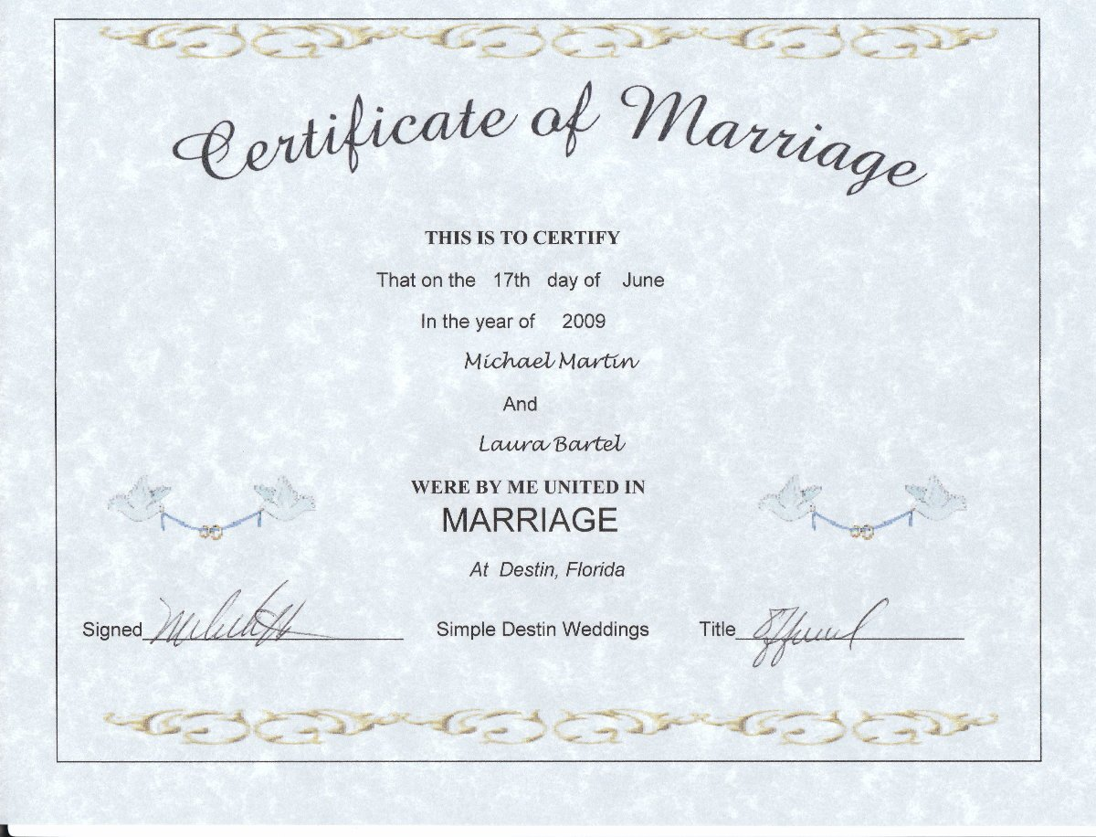Keepsake Marriage Certificate Template Unique Wedding Certificate Keepsake