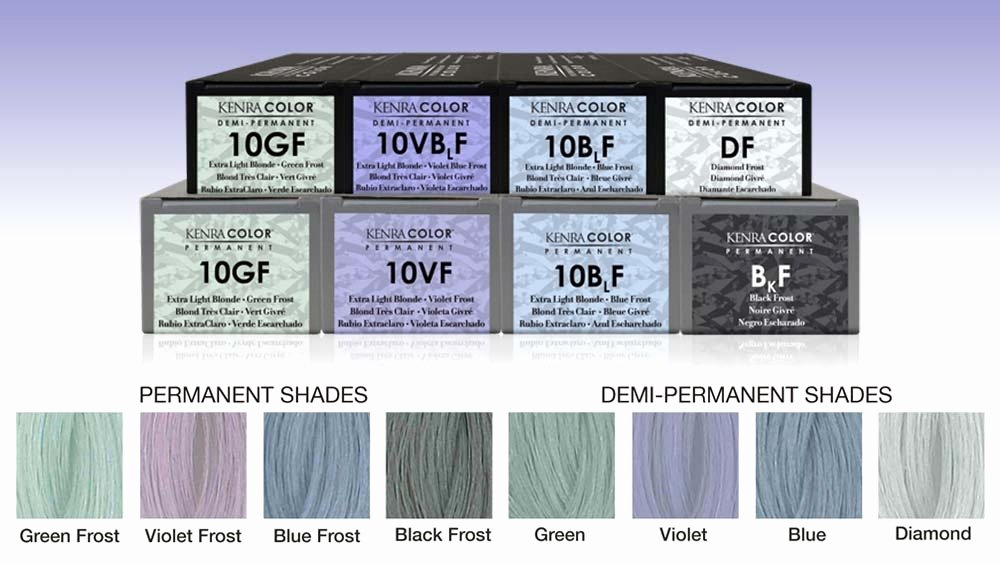 Kenra Demi Color Chart Awesome Introducing the New Kenra Color Frost Shine Collection