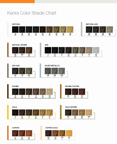 Kenra Demi Color Chart Awesome Tweet Pin Mail This Kenra Color Shade Chart is A