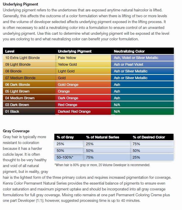 Kenra Demi Color Chart Lovely Kenra Permanent Color